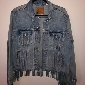 Levi's Ex-Boyfriend Trucker Jacket with fringe